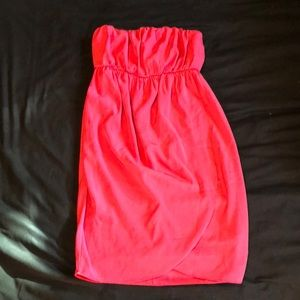 Pink tub top dress